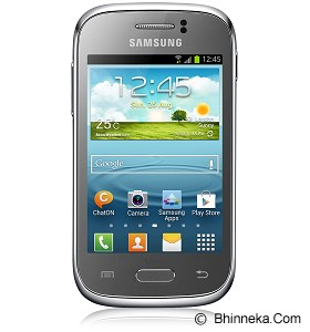 SAMSUNG Galaxy Young [GT-S6310] (Garansi Merchant) - Silver - Smart Phone Android